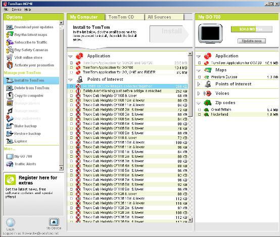 TomTom Home for Mac screenshot